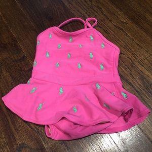 Ralph Lauren green pony 9month bathing suit 👙